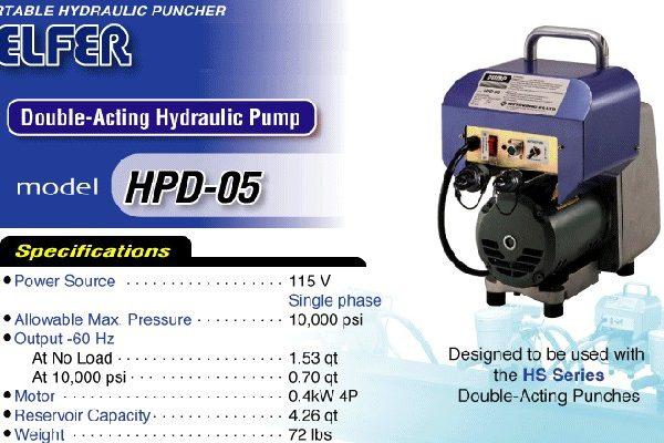 NITTO KOHKI HPD-05 Portable Double-Acting Hydraulic Pump